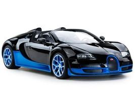 Radio Control Toy Car Model Scale 1:14 Kids Full Function Bugatti Black ... - $60.72