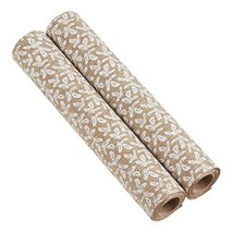 SARO LIFESTYLE Collection Fabric Rolls with Holly Garland Design Set of 2 Natura