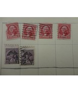 Lot of 6 Vintage 1932 US Postage Stamp Washington 2c Rose 3c Violet - $10.02