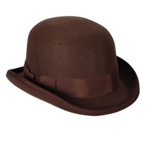 20's style Deluxe Brown Bowler Hat  57 cm - $36.78