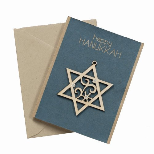 Enesco Flourish Star of David Greeting Card Ornament, 3-Inch