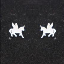 Silver Unicorn Stud Earring - $32.00