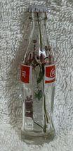 China Coke Coca-Cola Mini Miniature dried Purple Flowers crystal glass bottle image 5