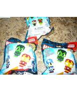 3x Marvel Pixelated heroes original minis Mini Figures Pack Blind Bags S... - $11.98