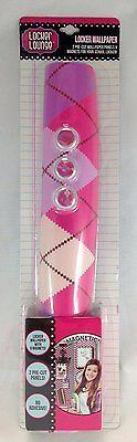 LockeLookz Locker Wallpaper - Pink & Purple Plaid