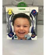 Connect Buddy Phones Safe Audio Kids Headphones in Blue  - $12.86