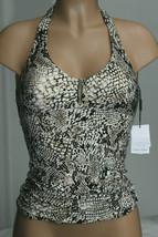 NEW Calvin Klein Sand Snake Print Bar Halter Tankini Swim Top size XXL - $26.71