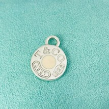 Tiffany & Co Sterling Silver 1837 Enamel Round Tag Pendant or Charm - $189.00