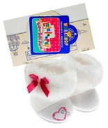 Build a Bear Lalaloopsy White Faux Fur Boots Doll Teddy Size Shoes - $24.99