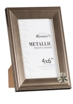 Lucky Shamrock Pewter Emblem on PICTURE FRAME SILVER 6X4 Hang/Stand code... - £18.23 GBP