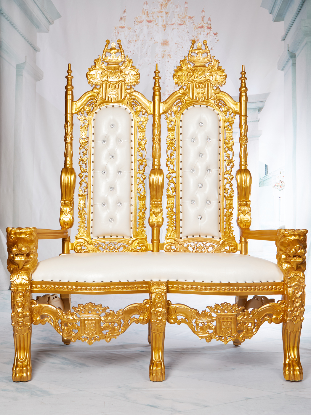 Stupendous King David High Back Double Lion Throne And 50 Similar Items Dailytribune Chair Design For Home Dailytribuneorg