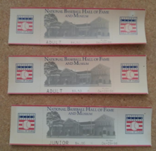 Professional Baseball Hall of Fame Ticket Stubs- Cooperstown NY - $9.99