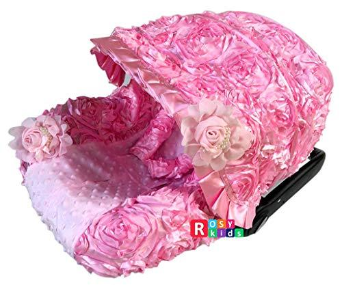 Rosy Kids Infant Carseat Canopy Cover 3pc Whole Caboodle, Baby Car Seat Cover Ou