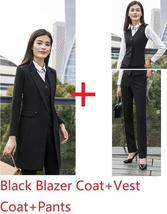 Women's Fashion Career Apparel High Quality 3 Piece Formal Business Pant Suits image 3