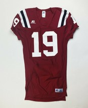 Russell Athletics Team Football Jersey Medium Large XL Maroon Red White - $40.99