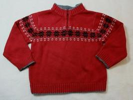 Gymboree Boys Sweater Sz 3T Red Fair Isle Sweater Holiday Classics Casual Dressy - $19.57