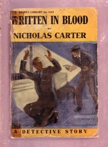 NEW MAGNET LIBRARY-#1283-WRITTEN IN BLOOD-NICK CARTER FR - $31.04