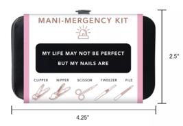 Trim Black Pink Nail Mani Emergency Grooming Kit Clippers Scissor Tweezer File image 5