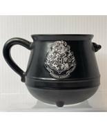 HARRY POTTER Coffee Cup Black CAULDRON MUG TEA Draco Dormiens Nunquam ti... - $13.81