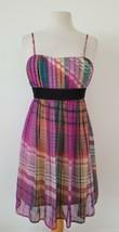 Twenty One Purple Plaid Dress Adjustable Spaghetti Straps Size Small - $14.85