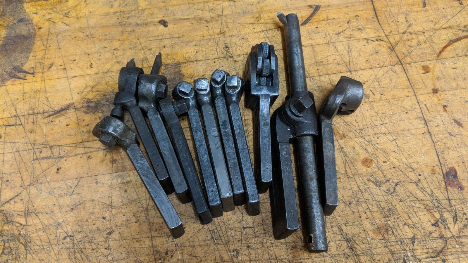 11 ASSORTED METAL LATHE LANTERN TOOL POST BIT HOLDERS ARMSTRONG JH WILLIAMS SET6