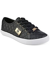 G by GUESS Backer2 Women's Lace-Up Sneakers Shoes (7, Black)