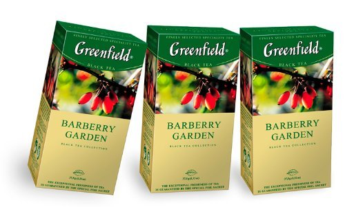Pack Of 3 Greenfield Black Tea Collection Barberry