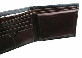 New Guess Men's Leather Credit Card Id Wallet Passcase Bifold Black 31GU22X018 image 12