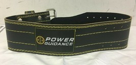 POWER GUIDANCE Weight Lifting Belt 4inch Wide Genuine Leather  - $27.58