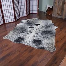 "Cultured Coal Cowhide Rug 6'3"" x 4'7"" ft - 1973 - $229.07"