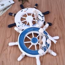 Ship Rudder Wall Decor Nautical Boat Wheel Beach Wooden Wood Hanging Dec... - $13.71