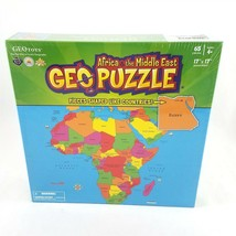GEOToys Geo Puzzle Africa Middle East Geography Jigsaw Puzzle 65 Pcs NEW... - $14.84