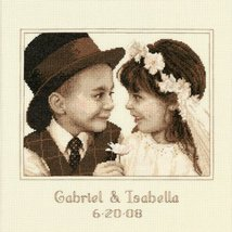 DIMENSIONS Needlecrafts Counted Cross Stitch, First Love Wedding Record - $14.75