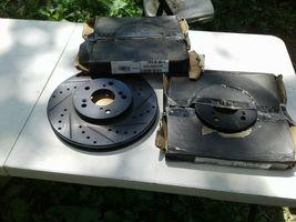 Fits Honda Accord left / right Black Drill Slot Brake Rotors+Ceramic Brake Pads image 5