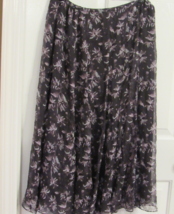 JONES NEW YORK WOMEN'S SKIRT 100%SILK SIZE-14W FLORAL MULTI COLOR  - $34.90