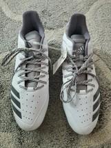 Adidas Icon Bounce Metal Baseball Cleats Men's Size 12 new white grey cg5252 - $40.00
