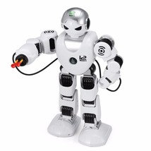 LED Dancing RC Robot Indoor Outdoor Remote Control White Game Toys Kids ... - $65.99