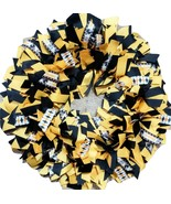 Pittsburg Steelers Ribbon Wreath Home, Office, Dorm, Funeral Wreath,  - $50.00