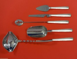 Camellia by Gorham Sterling Silver Cocktail Party Bar Serving Set 5pc Custom - $339.00