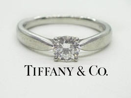 "Tiffany & Co. 0.30ct tw Diamond Platinum ""Harmony"" Ring, Size 4.5, Box & Papers - $1,900.00"