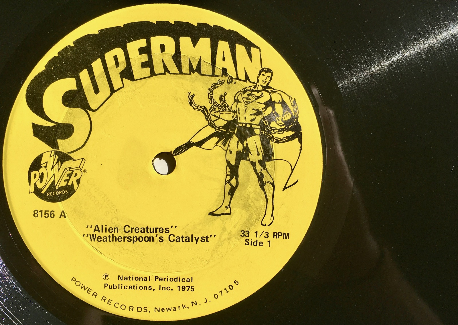 Superman LP Vinyl Record Album, Power Records - 8156 , Children's, Story,