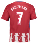 Atletico Madrid Home #7 GRIEZMANN 2017-18 Men Soccer Jersey Football Shi... - $36.99