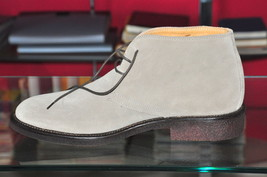 Shoes Brand Geremia N 41 For Man Model Clarks Velour Beige New With Box 179€ - $120.00