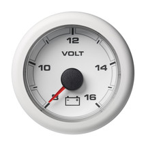 "VDO Marine 2-1/16"" (52mm) OceanLink Battery Voltage Gauge - 8 to 16V - White Dia - $68.47"