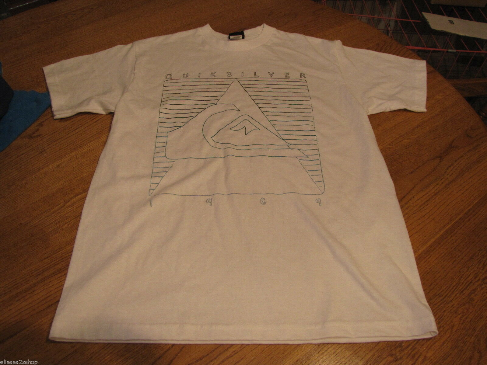 Boys youth Quiksilver 1969 L large white short sleeve T shirt L NWOT NEW image 2