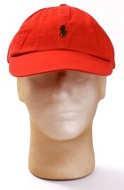 Polo Ralph Lauren Red Adjustable Cap Hat Green Pony Adult One Size NEW - $37.12