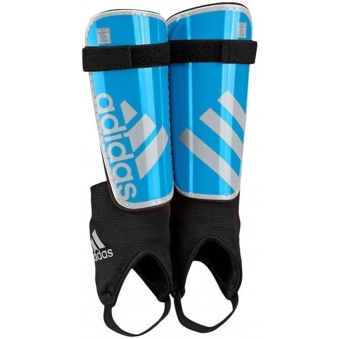 44354924942e ADIDAS Performance Ghost Shin Guards Silver Junior Youth Size X-Large Solar  Blue - $18.74