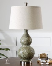 "URBAN RETRO MODERN DECOR XXL 27"" DIMPLED CERAMIC ACCENT TABLE LAMP UTTER... - $213.40"