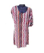 Shes Cool Womens Zig Zag Print Mini Dress Size XL Stretch Sundress Multi... - $14.94