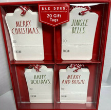 New Rae Dunn 20 Christmas Gift Tags  4 Designs Merry Christmas Hard To Find - $19.50